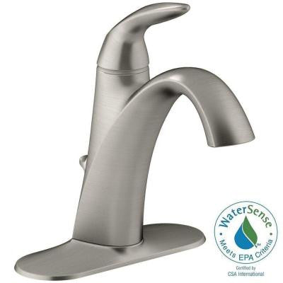 Alteo Single Hole Single Handle Mid Arc Bathroom Faucet in Vibrant Brushed Nickel