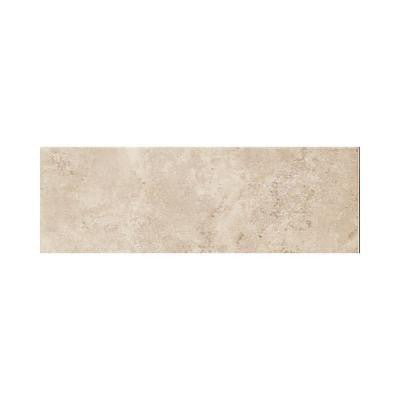 Salerno Cremona Caffe 3 in. x 10 in. Glazed Ceramic Bullnose Wall Tile