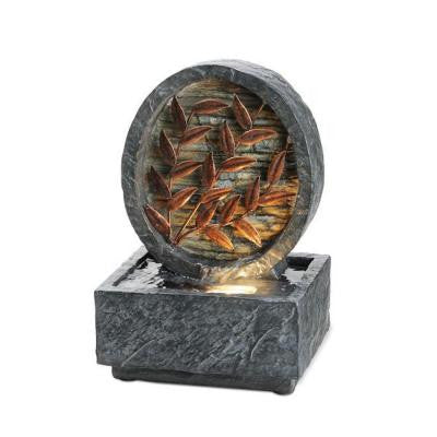 9.5 in. Antique Copper Leaf Fountain
