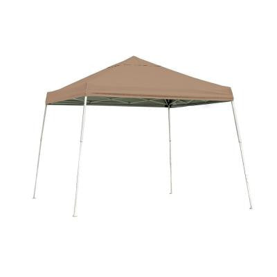 10 ft. x 10 ft. SL Pop-up Canopy with Desert Bronze Cover and Black Roller Bag