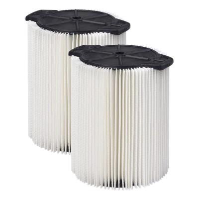 Wet/Dry Vacuum Filters for Select RIDGID Models (2-Pack)