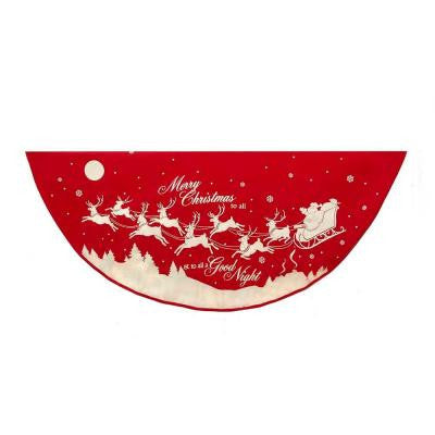 48 in. Reindeer and Santa Printed Christmas Tree Skirt