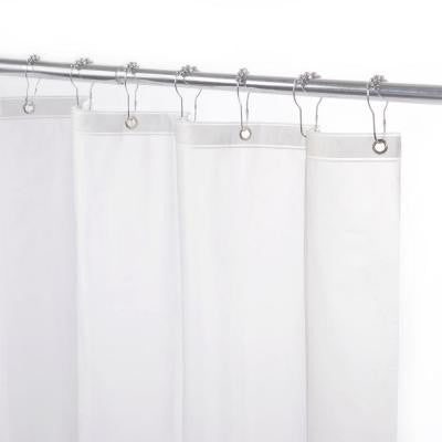 70 in. x 72 in. Heavy Weight Peva Shower Liner in Frosted