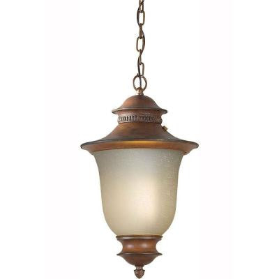 Burton 1 Light Rustic Sienna Outdoor Halogen Pendant