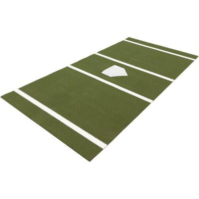7 ft. x 12 ft. Home Plate Mat in Green for Softball