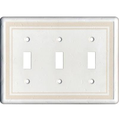 3 Toggle Wall Plate, Beige