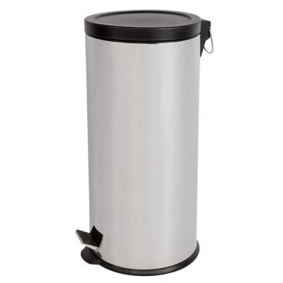 30 l and 5 l Polished Stainless Steel Round Touchless Step-On Trash Can Combo Pack