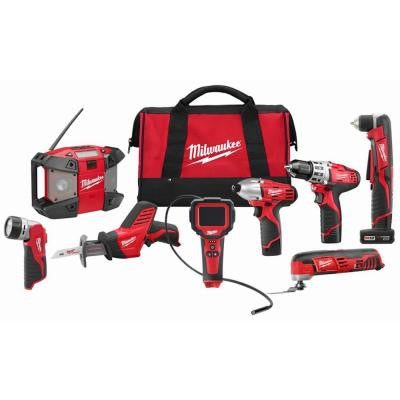 M12 12-Volt Lithium-Ion Cordless Combo Kit (8-Tool)