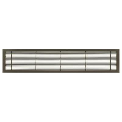 AG10 Series 6 in. x 12 in. Solid Aluminum Fixed Bar Supply/Return Air Vent Grille, Antique Bronze
