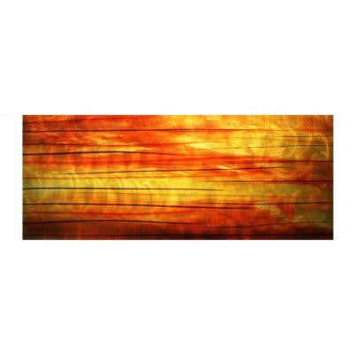 Brevium 19 in. x 48 in. Momentum Metal Wall Art