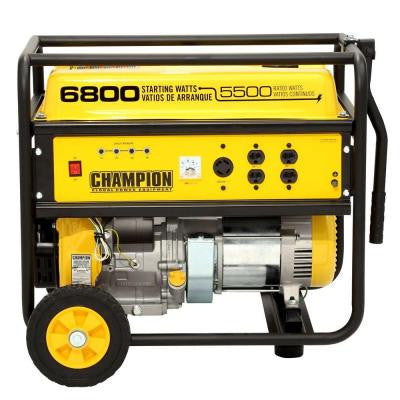 5,500/6,800-Watt Recoil Start Gasoline Powered Portable Generator