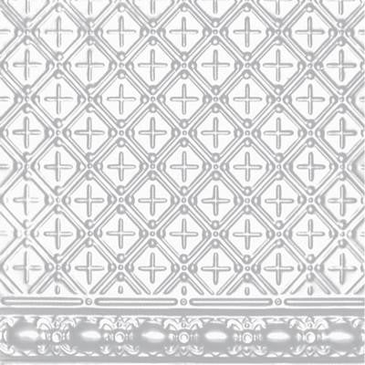 2 ft. x 4 ft. Nail-up Tin Ceiling Tile in Powder-Coated White (24 sq. ft. / case)