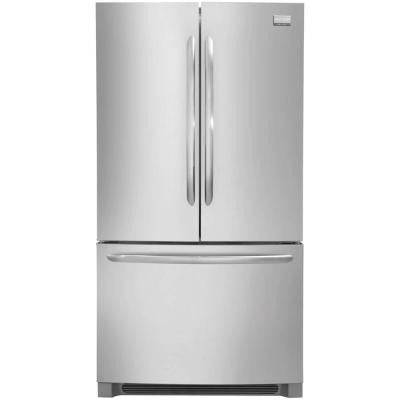 Gallery 27.64 cu. ft. Non-Dispenser French Door Refrigerator in Stainless Steel