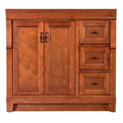 Naples 36 in. W x 21-5/8 in. D x 34 in. H Vanity Cabinet Only in Warm Cinnamon