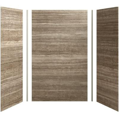 Choreograph 60in. X 36 in. x 96 in. 5-Piece Shower Wall Surround in VeinCut Sandbar for 96 in. Showers