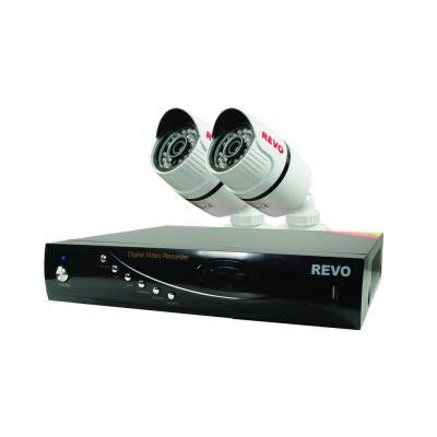T-HD 4-Channel 5G DVR Surveillance System with 2 T-HD 1080p Bullet Cameras