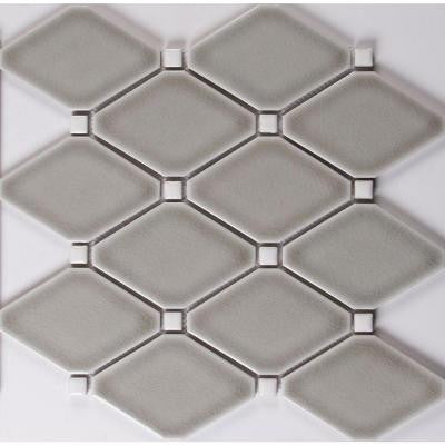 Dove Gray 12.28 in. x 12.8 in. x 8 mm Glazed Ceramic Mesh-Mounted Mosaic Tile (10.9 sq. ft. / case)