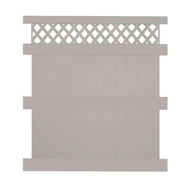 Colfax 8 ft. x 6 ft. Tan Vinyl Privacy Fence Panel