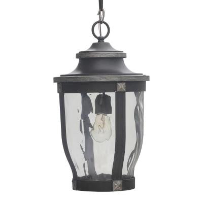 McCarthy 1-Light Bronze Outdoor Chain Hung Lantern