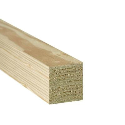 Pressure-Treated Timber #2 Southern Yellow Pine (Common: 4 in. x 4 in. x 8 ft.; Actual: 3.56 in. x 3.56 in. x 96 in.)
