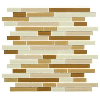 Spectrum Piano Dakar Frosted 11-3/4 in. x 11-3/4 in. x 4 mm Glass Mosaic Tile