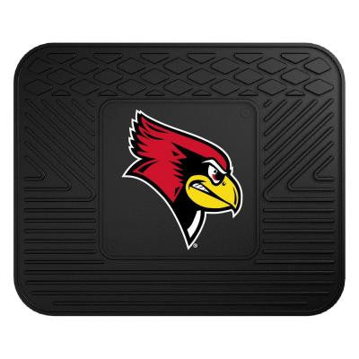 NCAA Illinois State University Black Heavy Duty 1-Piece 14 in. x 17 in. Vinyl Utility Mat