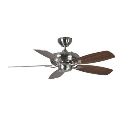 Designer Max II 44 in. Brushed Steel Silver Ceiling Fan