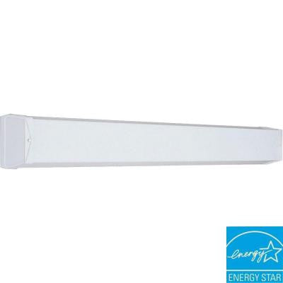 1-Light White Fluorescent Vanity Fixture