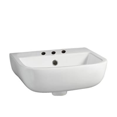 Series 600 Large Wall-Hung Bathroom Sink in White