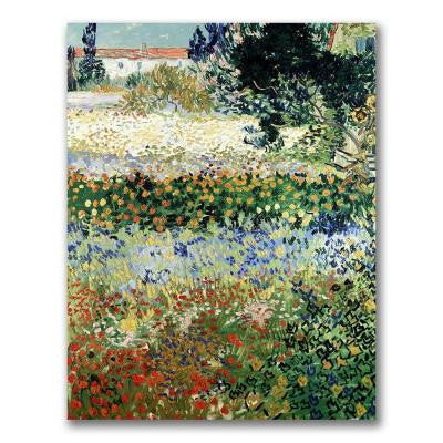 32 in. x 26 in. Garden in Bloom Canvas Wall Art