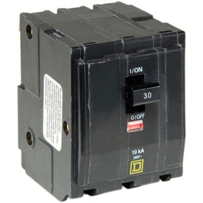 QO 30 Amp 3-Pole Plug-In Circuit Breaker