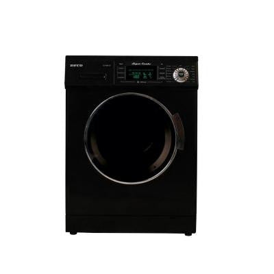 13 lbs. Washer and Electric Dryer in Black