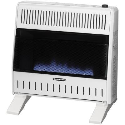 30,000 BTU Blue Flame Dual-Fuel Wall Heater with Blower