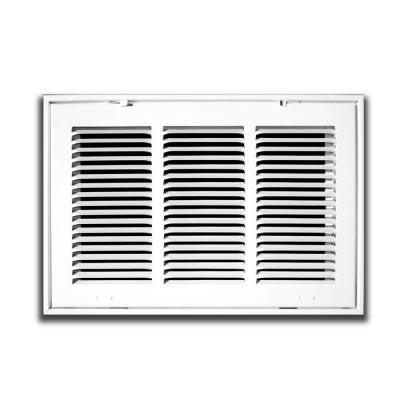 24 in. x 12 in. White Return Air Filter Grille