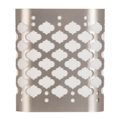 Brushed Nickel Automatic Dusk to Dawn Moroccan Decor LED Night Light