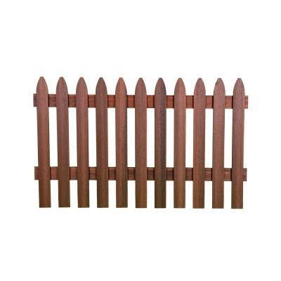 3-1/2 ft. x 6 ft. Heartwood Gothic Composite Fence Picket Panel