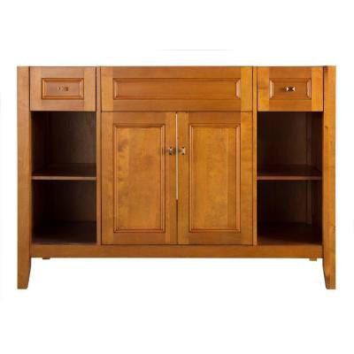 Exhibit 48 in. W x 21.63 in. D x 34 in. H Vanity Cabinet Only in Rich Cinnamon