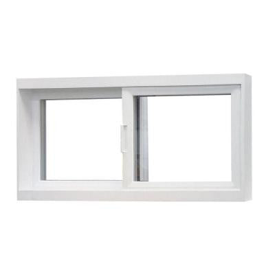 32 in. x 19 in. 50 Series Sliding Reversible Fin Vinyl Window - White