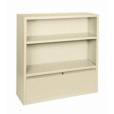 4-Shelf Steel Bookcase with Drawer