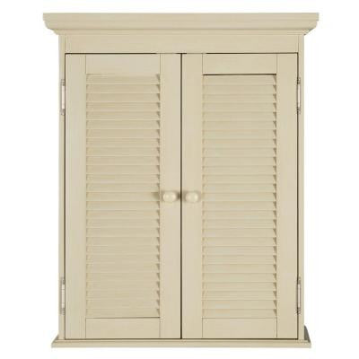 Cottage 23-3/4 in. W Wall Cabinet in Antique White