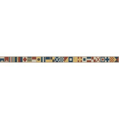 9 in. Nautical Living Sailing Flags Border