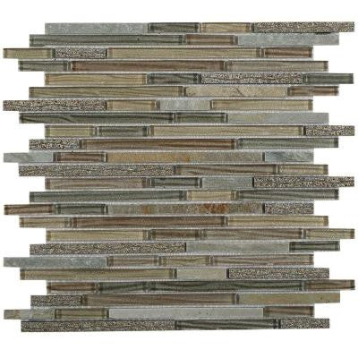 Paradise Genosha 12 in. x 12 in. x 8 mm Glass Mosaic Tile