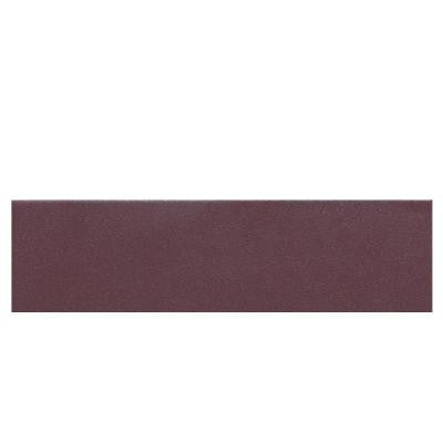 Colour Scheme Berry Solid 3 in. x 12 in. Porcelain Bullnose Floor and Wall Tile