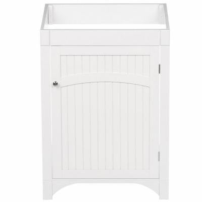 Cottage 24 in. W x 21 in. D One Door Unassembled Vanity Cabinet Only in White