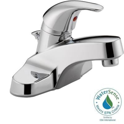 Core 4 in. Centerset Single-Handle Low-Arc Bathroom Faucet in Chrome