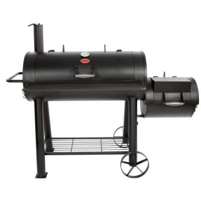 1091 sq. in. Competition Pro Offset Charcoal or Wood Smoker in Black
