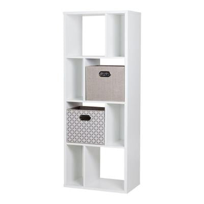 Reveal 8-Shelf Bookcase in Pure White
