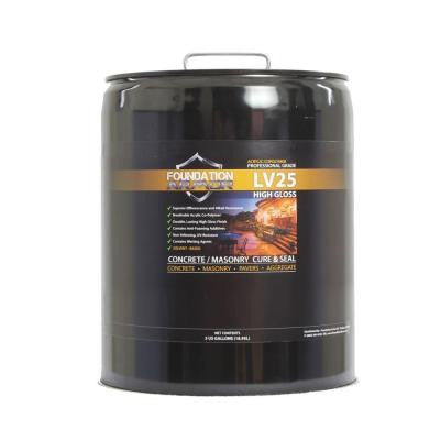 LV25 Ultra Low VOC 5 gal. Clear High Gloss Acrylic Co-Polymer Sealer and Curing Compound