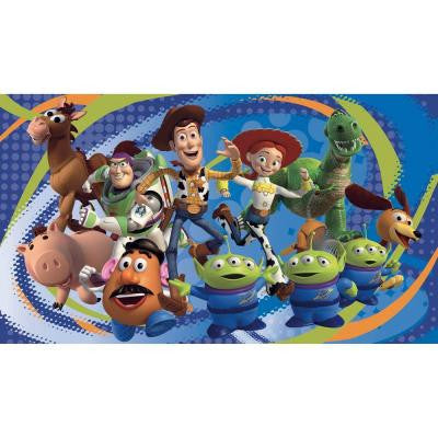Toy Story 3 Chair Rail Prepasted Mural 6 ft. x 10.5 ft. Ultra-strippable Wall Applique US/MEXICO/RUSSIA