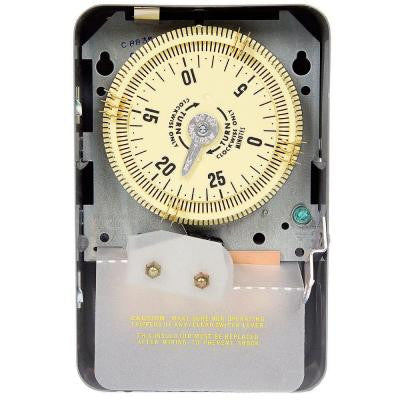C8800 Series 20-Amp 30-Minute Short Range Mechanical Cycle Time Switch - Gray